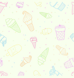 Perfect seamless pattern with ice cream vector