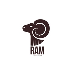 Ram sheep lamb head silhouette graphic logo vector image