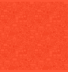 Red household seamless pattern vector