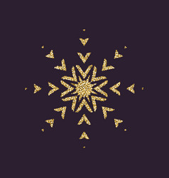 Snowflake icon christmas and new year xmas vector