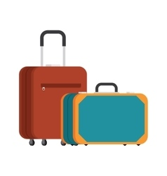 Two suitcases for travel vector