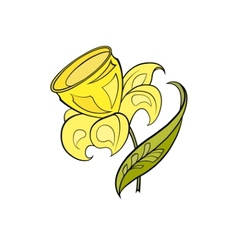 Yellow stylized narcissus vector