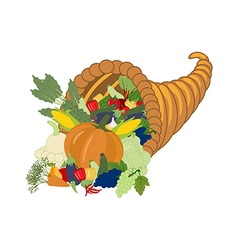 Horn of plenty harvest vector