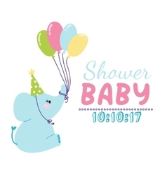 Baby shower invitation card vector