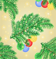 Seamless texture Merry Christmas decoration vector image