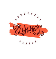 wonderful summer season vector image
