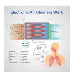 Electronic air cleaner work vector