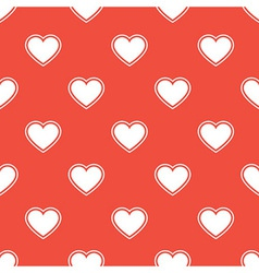 Pattern with white hearts vector