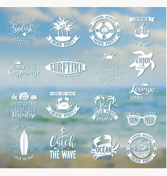 Summer designs on tropical beach background vector