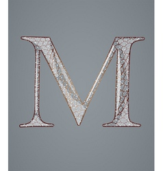 Abstract letter m vector