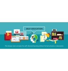 Self-education concept vector
