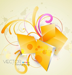 Abstract floral art vector