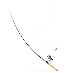 Rod spinning for fishing 03 vector
