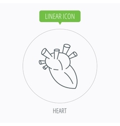 Heart icon human organ sign transplantation vector