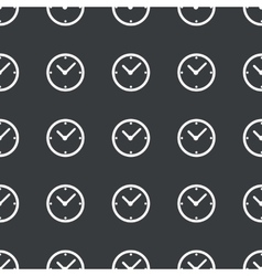 Straight black clock pattern vector