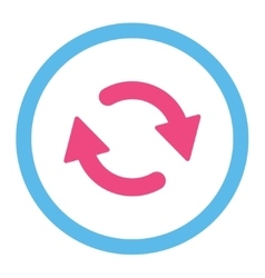 Refresh flat pink and blue colors rounded vector