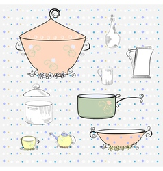 Kitchen equipment vector