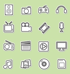 Multimedia icon vector