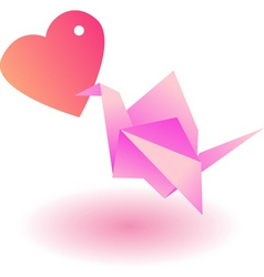 Craft bird love vector