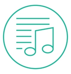 Musical note line icon vector