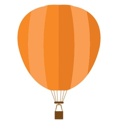 Hot air balloon on white background vector