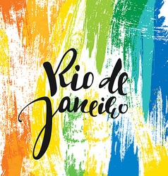 Rio de janeiro background colors of the brazilian vector