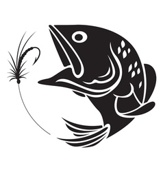 Fishing symbol vector