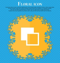 Active color toolbar Floral flat design on a blue vector image vector image
