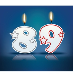Birthday candle number 89 vector image vector image