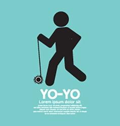 Black Graphic Symbol Yoyo Player vector image vector image
