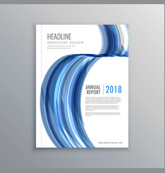 Business brochure cover template design in vector