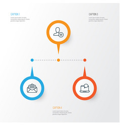 communication icons set collection of read vector image