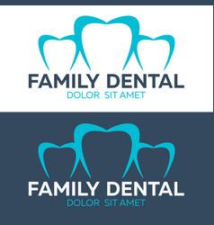 family dental logo dental clinic dentist logo vector image