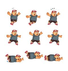 Fat boy falling sprite vector