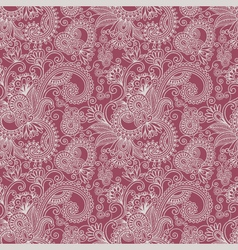 Floral seamless ham pattern vector