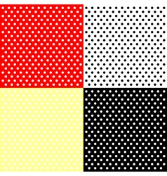 Four polka dots backgrounds vector image vector image