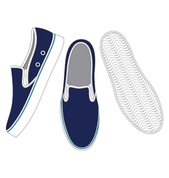 Front back and side views of sneakers vector image