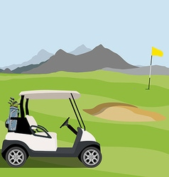 Golf field vector image