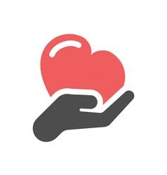 Heart care icon vector