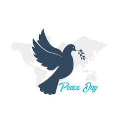 International peace day logo or emblem 21 vector