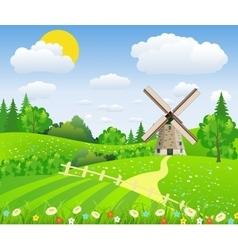 Landscape design over sky background vector