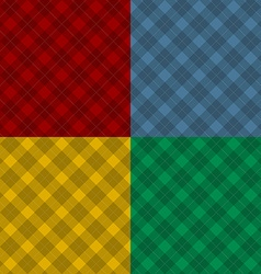 Lumberjack four color checkered diagonal square vector image