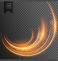 Neon light streak transparent effect background vector