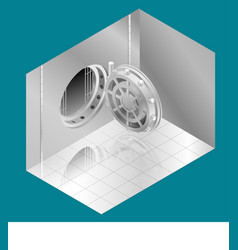 open bank vault door isometric vector image