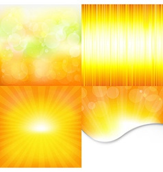 Orange and yellow backgrounds vector