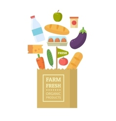 Package with fresh produce vector image vector image
