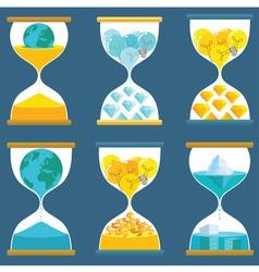 Sandglass Creative vector image vector image