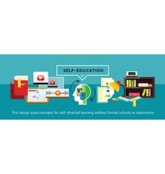 Self-education concept vector