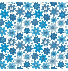 Simple floral pattern seamless background vector