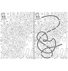 Space maze vector image vector image